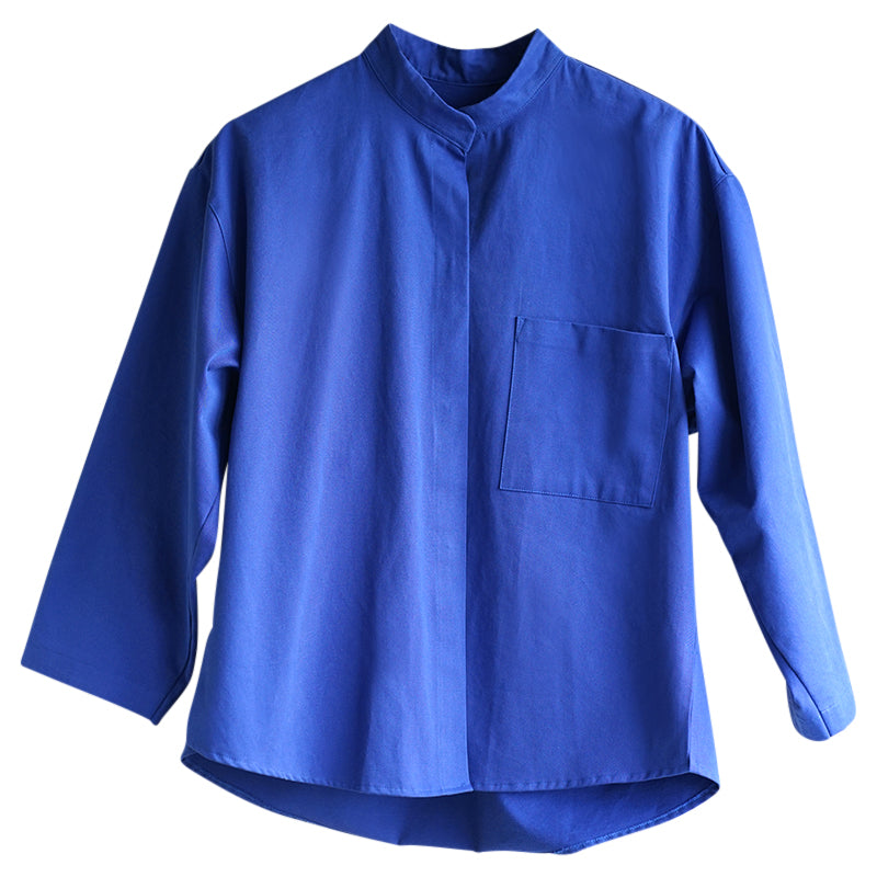 IRMA Travel Collection kobalt blue canvas shirt
