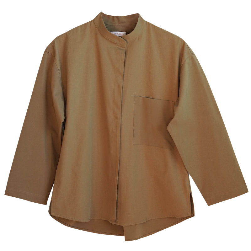IRMA Travel Collection olive shirt