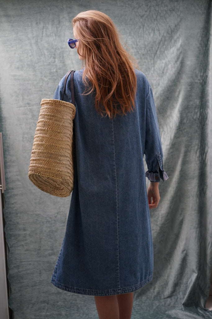 Nounou. Denim caftan dress