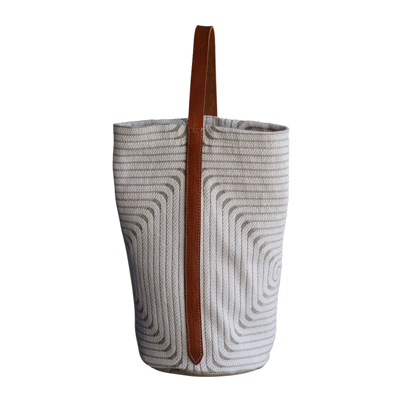Large Tote, geometrical structured, creme