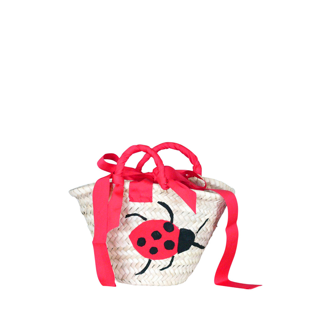 Mini basket Back to School with Ladybird patch