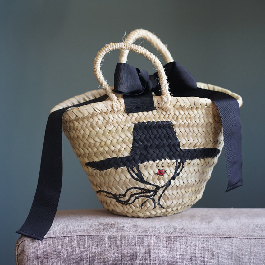 "Mini basket ""IRMA with hat"""