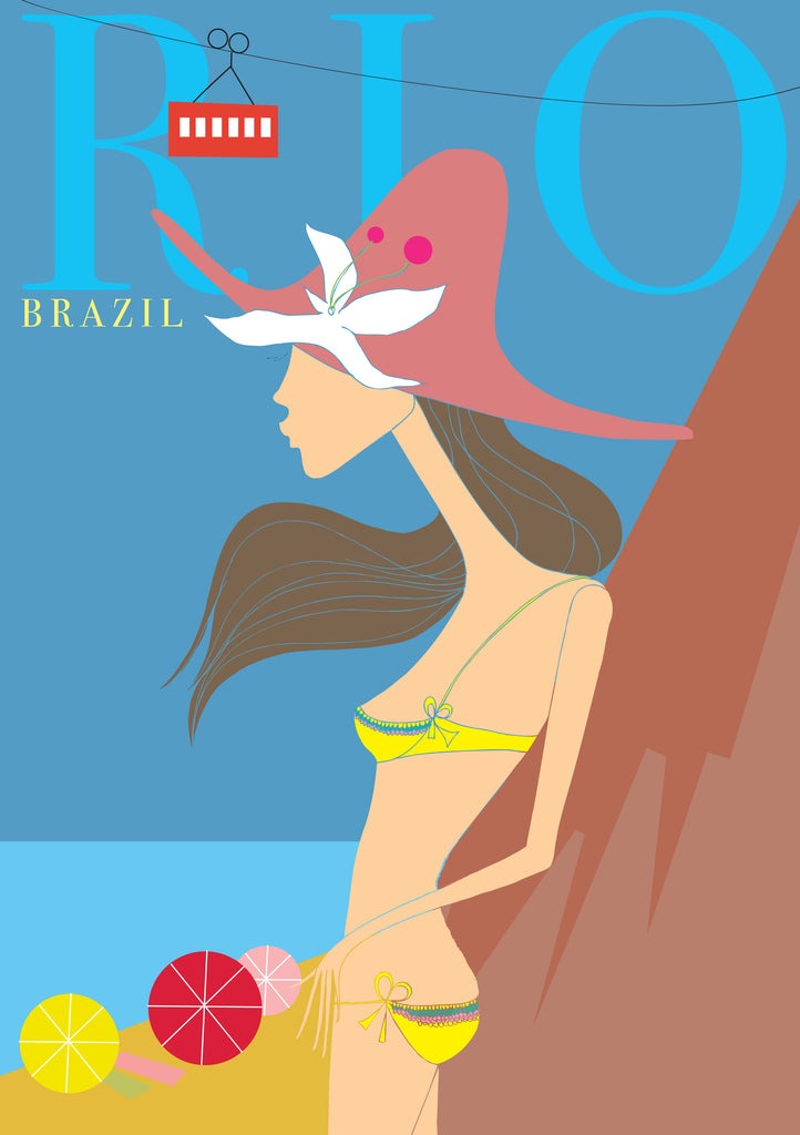 "Travel Poster ""Rio"", Fernweh Collection"