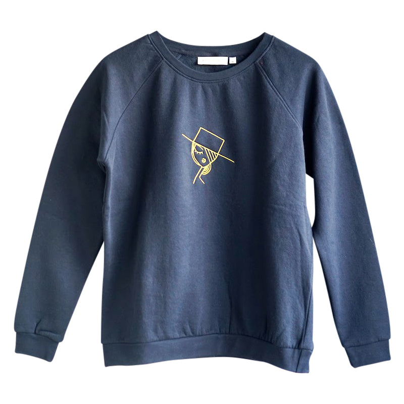 Embroidered Art Sweatshirt blue