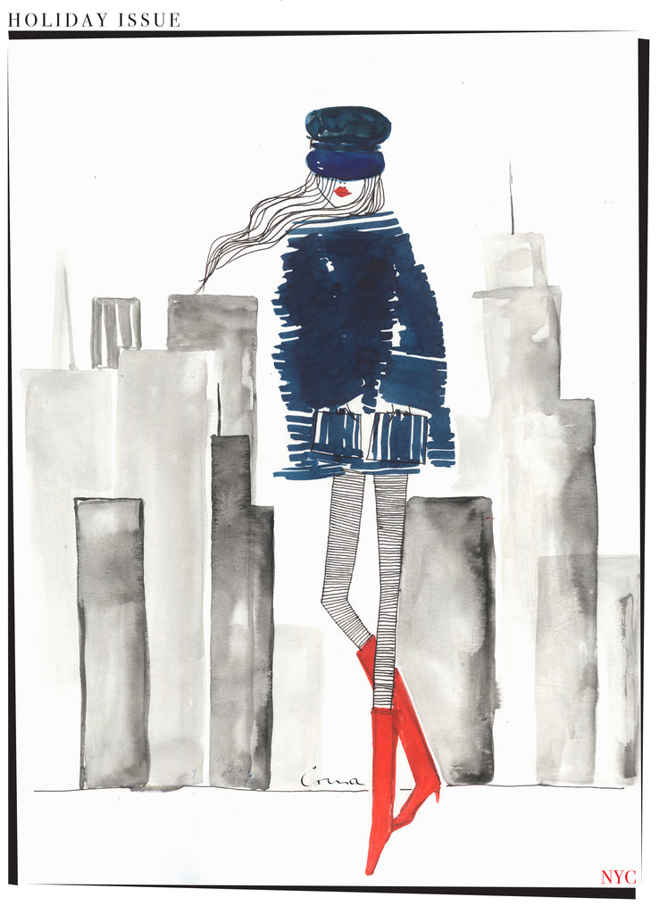 T-Shirt IRMA in red boots, New York