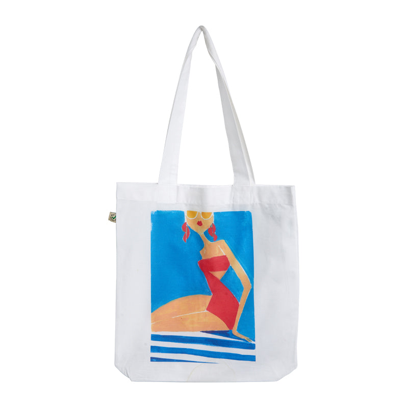 "Canvas bag ""Red at the beach"""