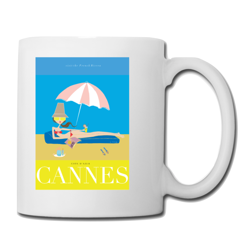 "Mug: Travel Poster - ""Cannes"""