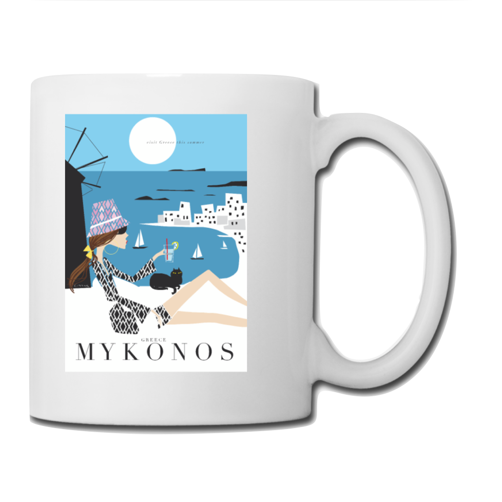 "Mug: Travel Poster - ""Mykonos"""