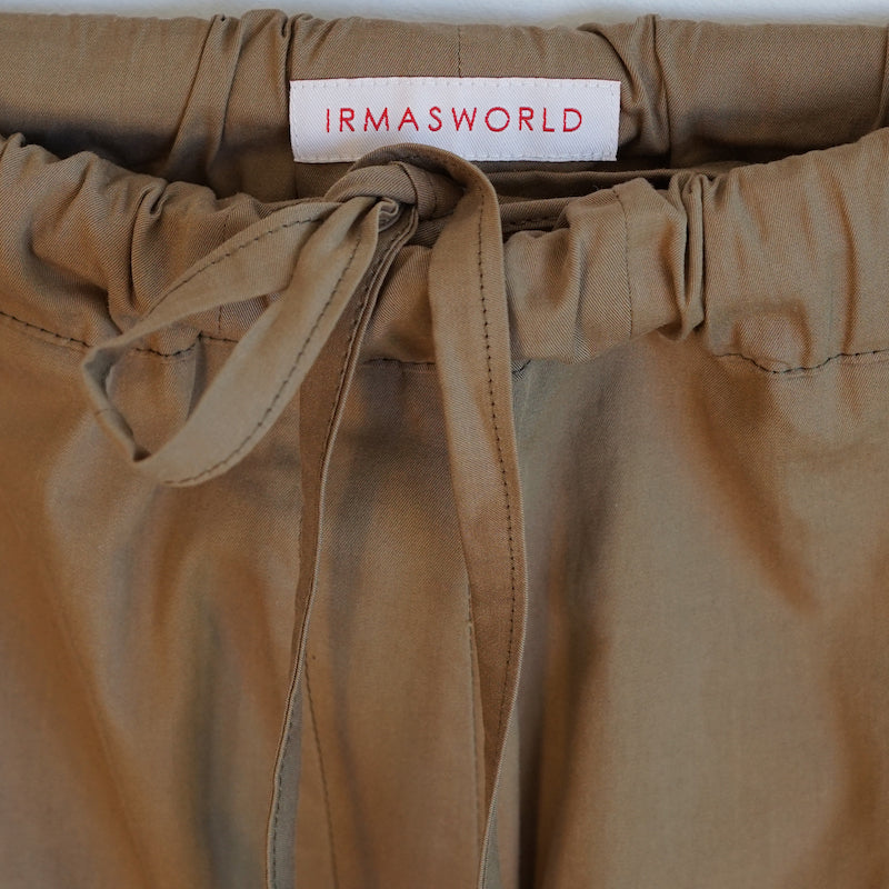IRMA Travel Collection olive cotton pants