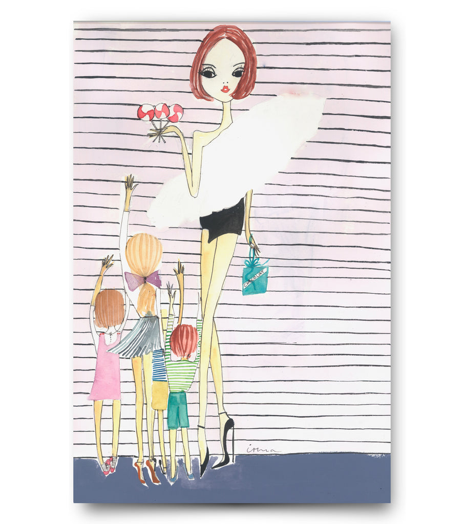 "IRMA art print ""YSL and kids"""
