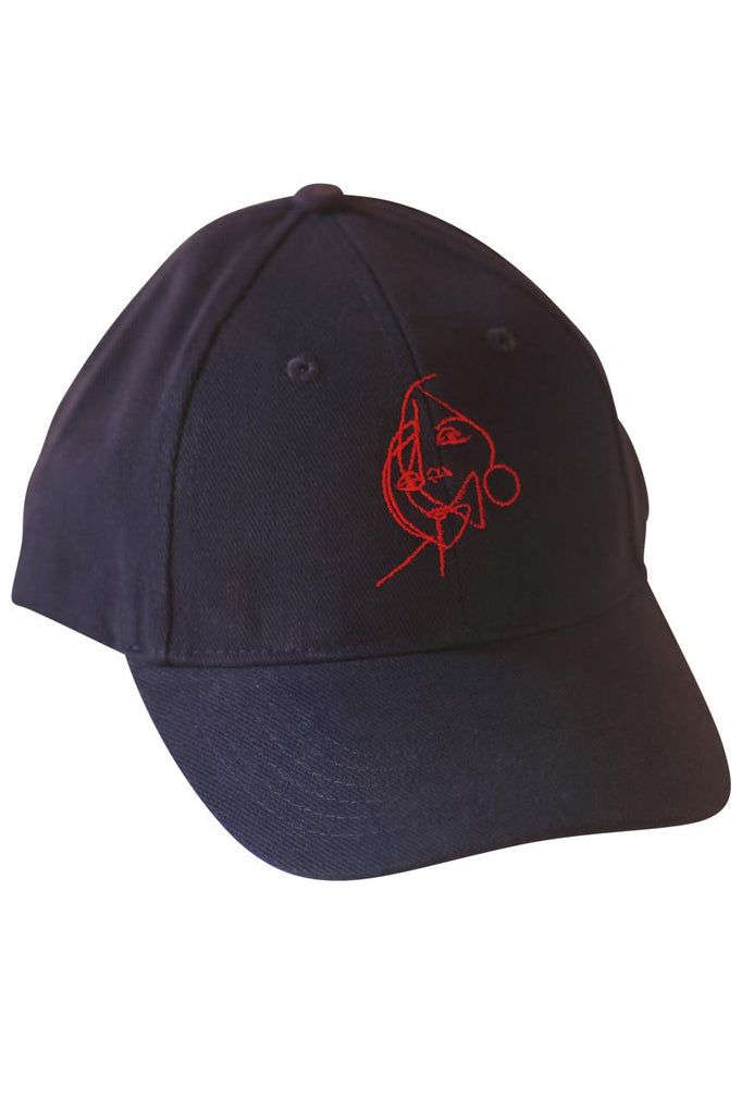 "Cap ""Two Faces"" (navy, red)"