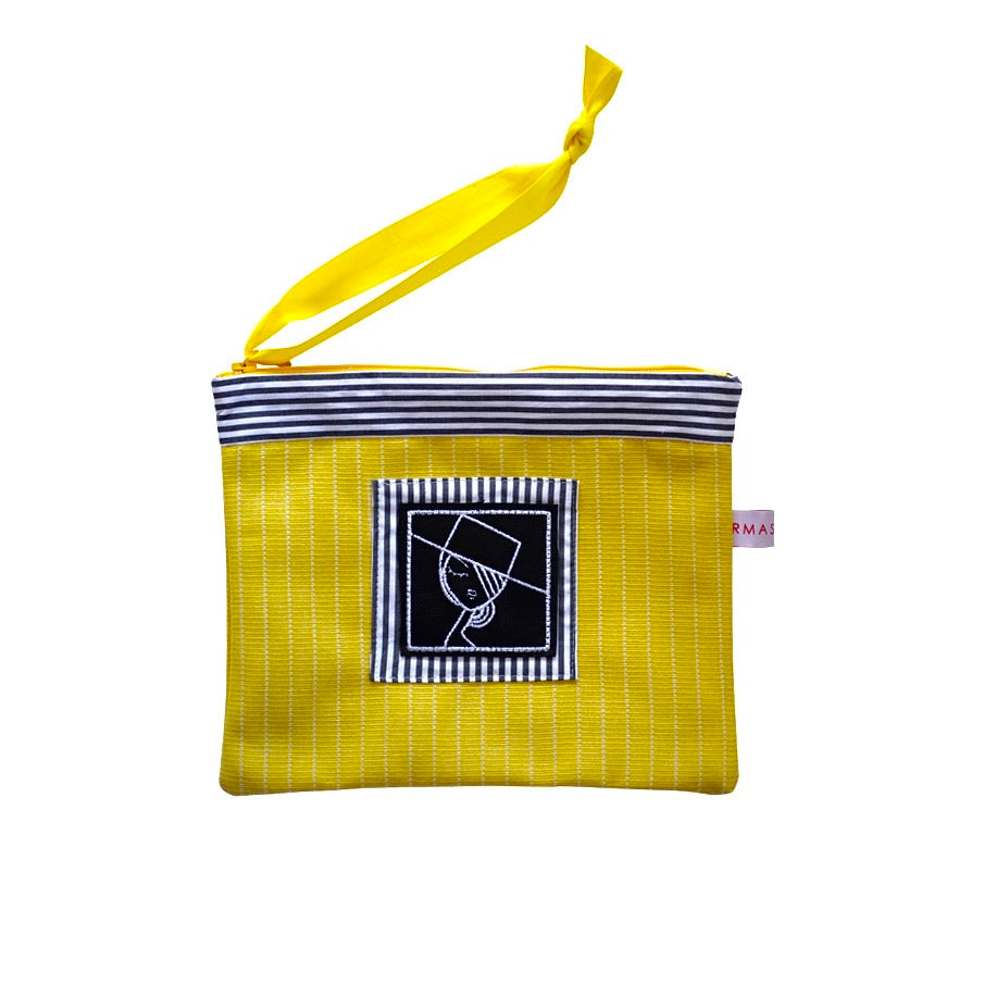 IRMA embroidered Pouch yellow