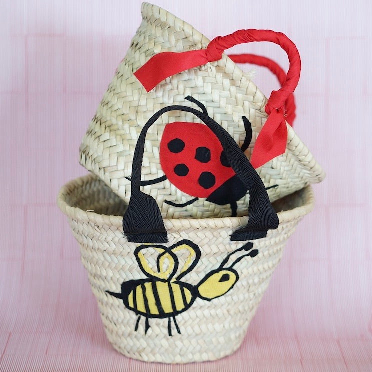 Mini basket Back to School with Bee patch