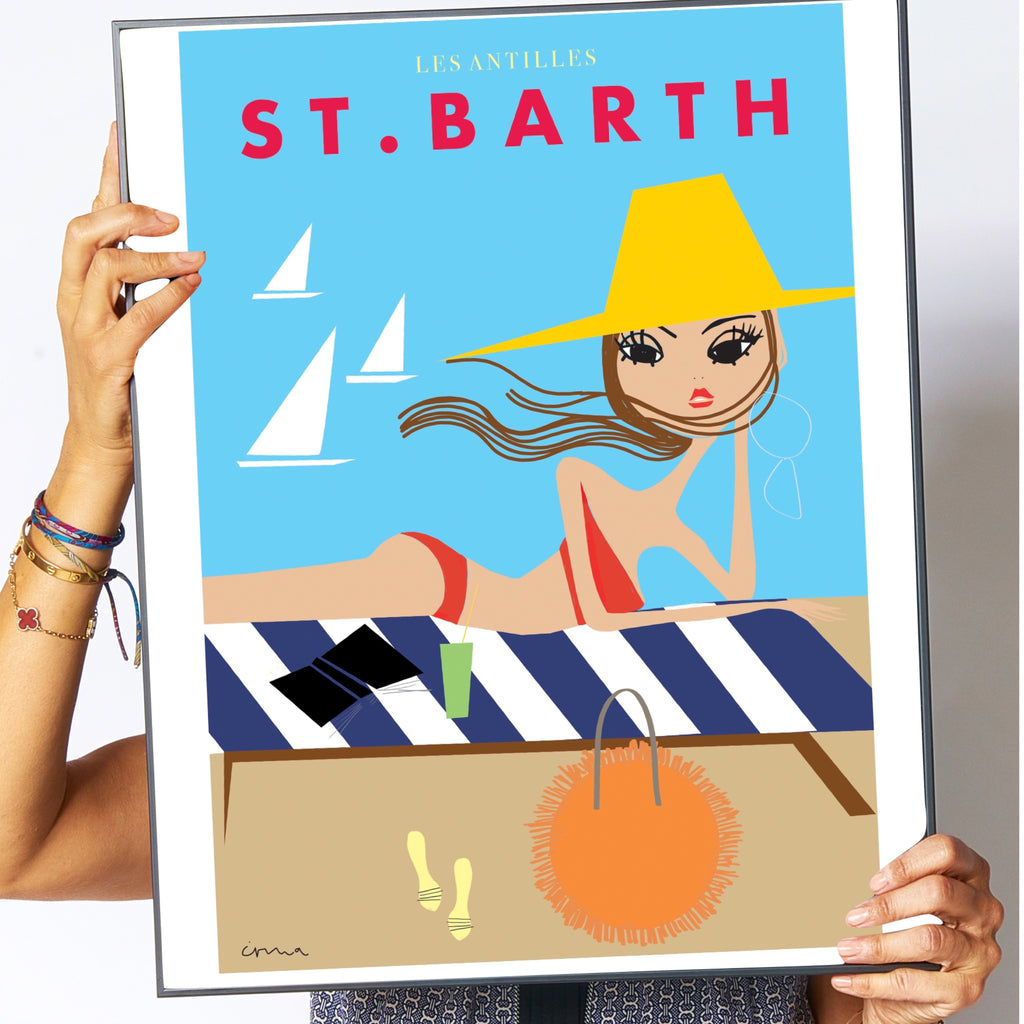 "Travel Poster ""St. Barth"""