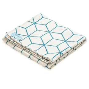 Atlantic Blankets - Teal Geometric