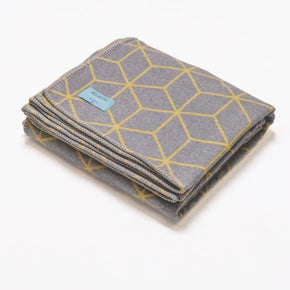 Atlantic Blankets - Grey and Yellow Geometric