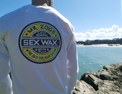 Mr Zogs Sex Wax T-Shirt - The Fade - White Long Sleeve