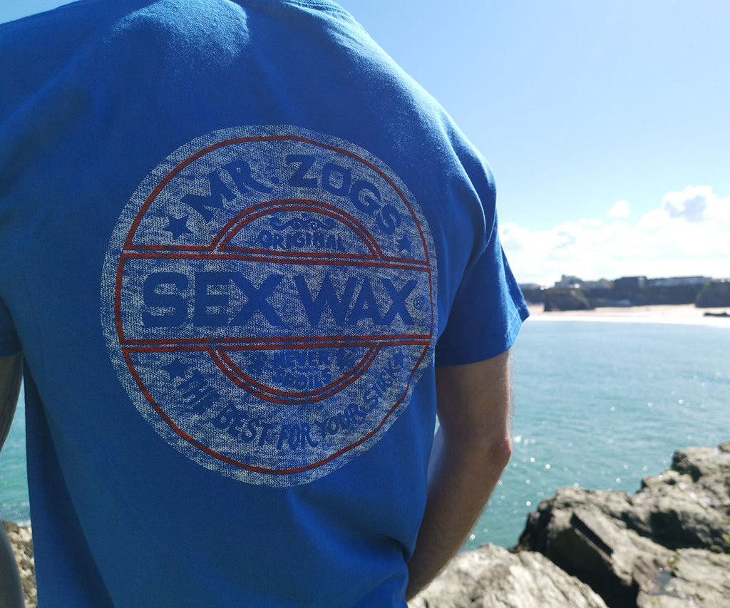 Mr Zogs Sex Wax T-Shirt - Whitewash - Blue