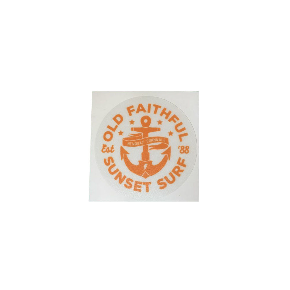 Sunset Surf Sticker - Old Faithful Orange - Sunset Surf Shop