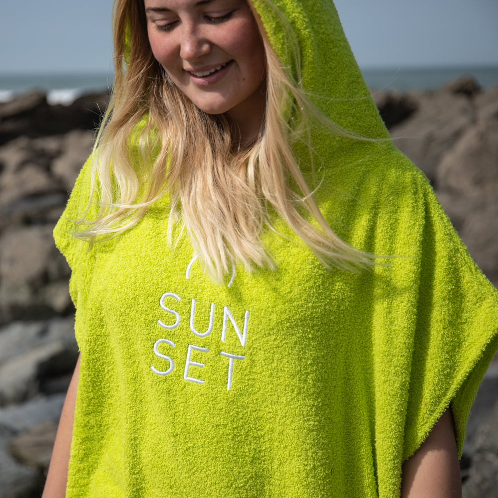 Sunset Surf Robe - Lime Green