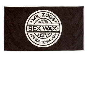 Sex Wax Towel - Black - Sunset Surf Shop