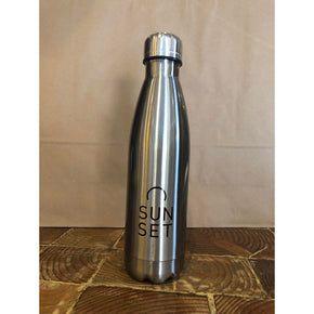 Sunset Surf Water Bottle - Stainless Grey