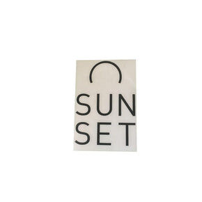 Sunset Surf Sticker - Black - Sunset Surf Shop