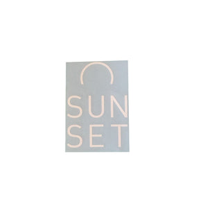 Sunset Surf Sticker - White - Sunset Surf Shop