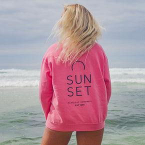 Sunset Surf Crew Unisex - Salmon