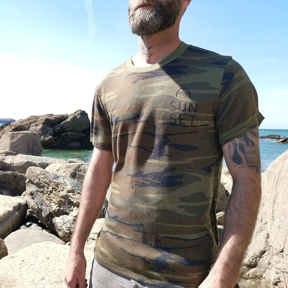 Sunset Surf Tee - Camo