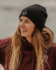 Sunset Surf Beanie - Black