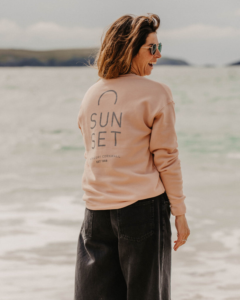 Sunset Surf Women's Crew - Peach
