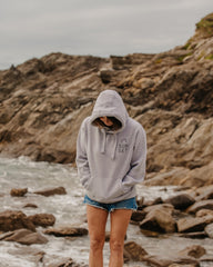 Sunset Surf Hoodie - Light Grey