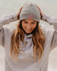Sunset Surf Beanie - Light Grey