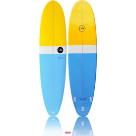 "ABC Gambler 9'1"" Longboard - Yellow/ Blue"