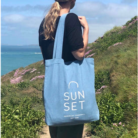 Sunset Tote Bag - Light Denim