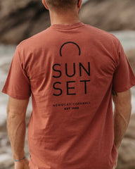 Sunset Surf Tee - Rust