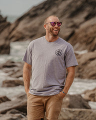 Sunset Surf Old Faithful - Organic Grey Tee with Black logo