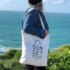 Sunset Surf Shopper Bag - White