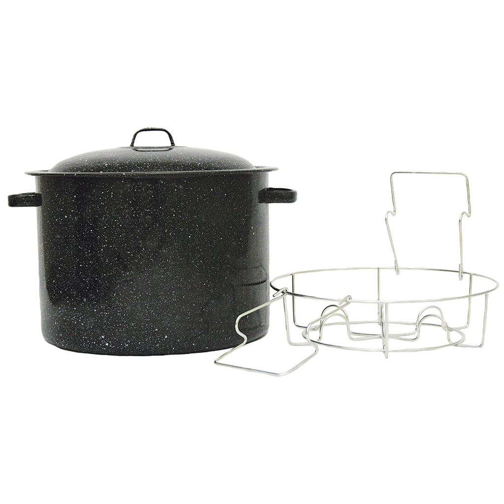 Granite Ware Canner W/Jar Rack