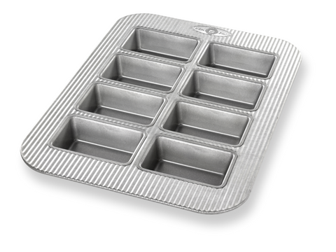 USA Pan Mini Loaf Pan, 8 Well