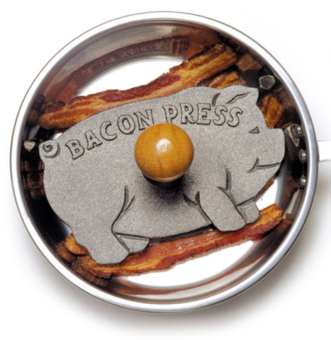 Norpro Cast Iron Bacon/ Grill Press Pig