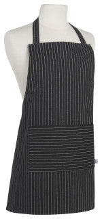 Now Designs Black Pinstripe Junior Basic Apron