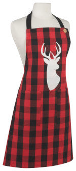 Now Designs Buffalo Check Deer Spruce Apron