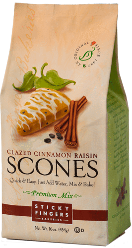 Sticky Fingers Bakery Scone Mix Glazed Cinnamon Raisin