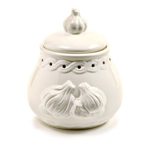 Norpro Deluxe White Stoneware Garlic Keeper
