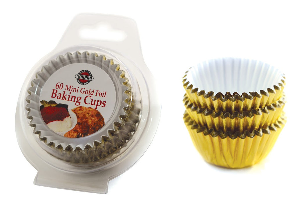 Norpro Mini/ Petit Four Gold Foil Baking Cups