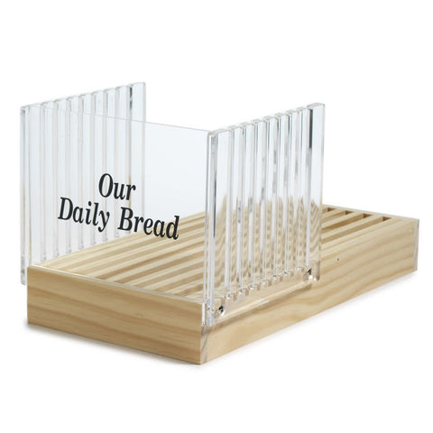 Norpro Acrylic Bread Slicer With Wood Crumb Catcher