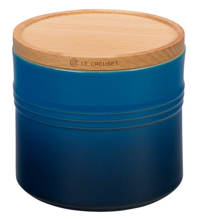 Le Creuset 1.5 Qt Marseille Canister With Wood Lid