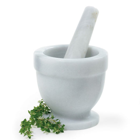 "Norpro 4"" Marble Mortar & Pestle"